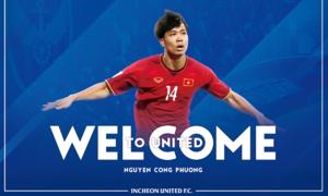 Incheon United công bố số áo chào mừng Công Phượng hội quân
