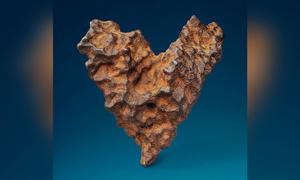 Thiên thạch hình trái tim độc nhất được bán đấu giá vào Lễ tình nhân