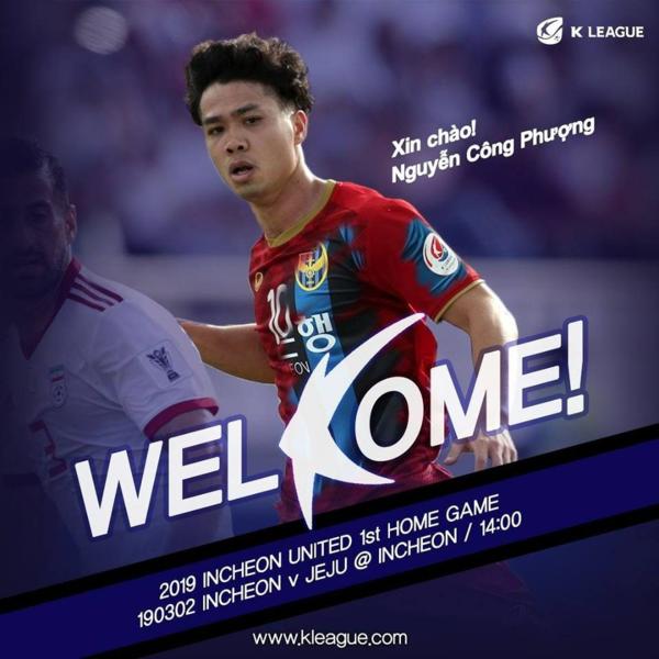 Trang chủ K League chào đón tiền đạo Nguyễn Công Phượng.