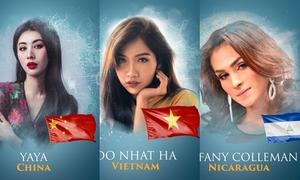 Loạt đối thủ 'không phải dạng vừa' của Nhật Hà tại Hoa hậu Chuyển giới Quốc tế