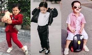 Mới 4 tuổi, cậu cả nhà Khánh Thi - Phan Hiển đã có cả kho đồ hiệu
