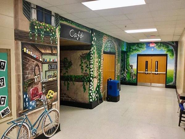 Đây là hành lang trường học hay một tác phẩm nghệ thuật?