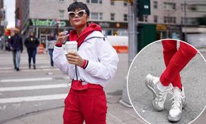 Thôi đi giày bẩn, mặc áo 40k, H'Hen Niê lần đầu tiên sắm giày hiệu 25 triệu