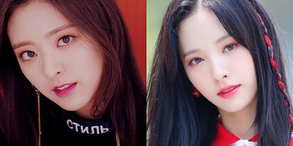 Ngay khi mới ra mắt, Yuna (ảnh trái) gây sốt bởi ngoại hình xinh đẹp, cuốn hút dù chỉ mới sinh năm 2003. Netizen nhận xét em út của ITZY có khuôn mặt giống với Yuna (Cosmic Girl). Cả hai đều được ca ngợi là những nữ thần của Kpop.
