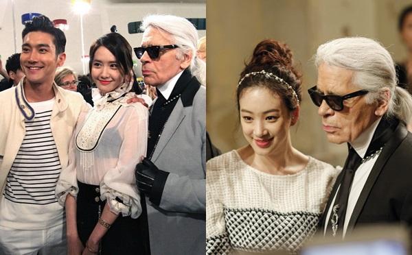 Chính anh là người đã giới thiệu Yoon Ah và nữ diễn viên JunG Ryeo Won tới bố già Chanel tại show Cruise 2016.