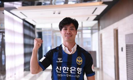 Công Phượng có pha lập công ngay trận mở màn. Ảnh: CLB Incheon United