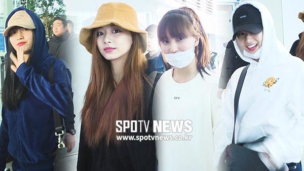 Chiều ngày 20/2, Twice xuất hiện ở sân bay và một vài thành viên đã giấu màu tóc mới, chuẩn bị cho màn comeback vào tháng 4. Tzuyu đã nhuộm nâu, thêm highlight tím ở đuôi tóc. Mina đáng yêu hết nấc với kiểu mái bằng, tóc buộc cao.