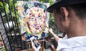 Họa sĩ Việt vẽ chân dung Trump - Kim: 'Tôi thích đặc tả đôi mắt hai nhà lãnh đạo'