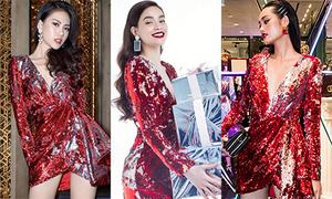 Mỹ nhân Việt 'cao tay' mix phụ kiện khác biệt khi diện chung một bộ váy