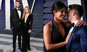 Tiệc hậu Oscar 2019: Vợ chồng Miley Cyrus và Nick Jonas hot nhất sự kiện