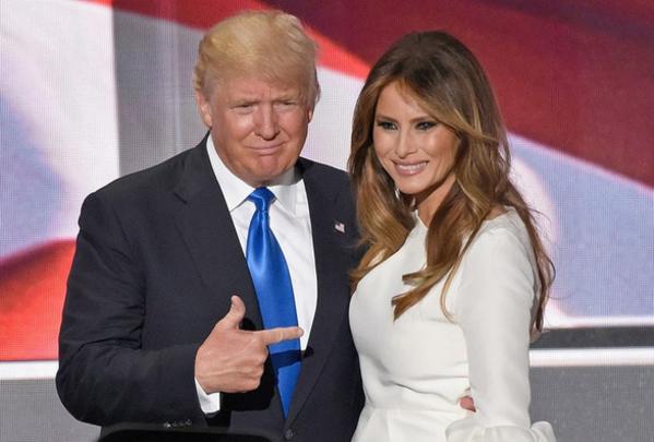 Tổng thống Donald Trump và đệ nhất phu nhân Melania Trump.