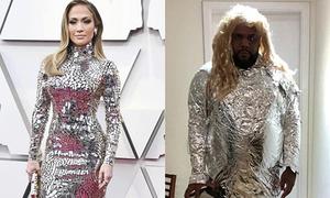 Những pha cosplay Oscars 2019 siêu hài hước của 'thánh nhái' trang phục
