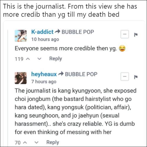 Đến chết tôi cũng tin nhà báo này hơn là tin YG.