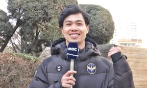 Công Phượng ngượng ngùng làm MC thời tiết tại Hàn Quốc