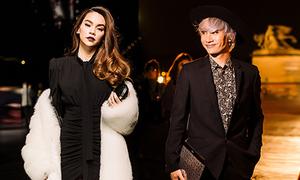 Hà Hồ diện áo lông 300 triệu đồng dự show ở Paris cùng Lý Quí Khánh