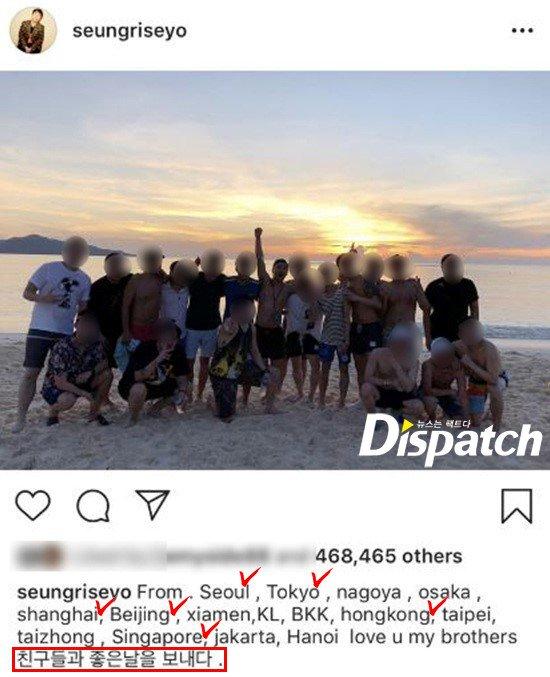 Sau SBS, đến lượt Dispatch bóc Seung Ri về kỳ nghỉ bao trọn 10 chân dài club người lớn