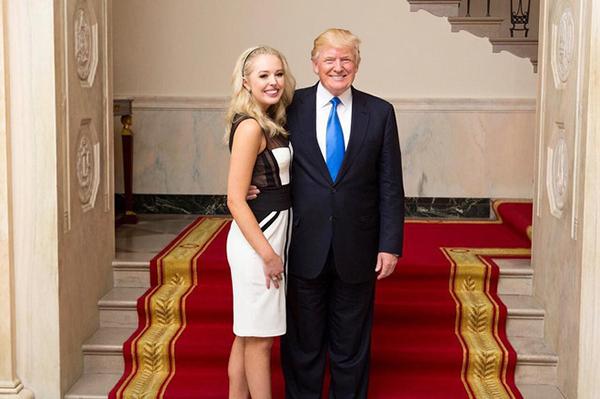 Trong 5 người con với 3 đời vợ, Tổng thống Trump có hai ái nữ xinh đẹp. Trong đó, Tiffany Trump