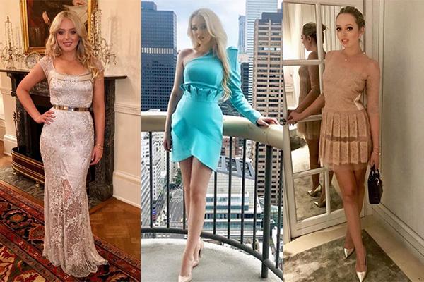 Phong cách ăn mặc, trang điểm của Tiffany chịu ảnh hưởng rất rõ nét từ Barbie. Nhiều người cũng ví ái nữ nhà Trump như một cô búp bê tóc vàng sexy.
