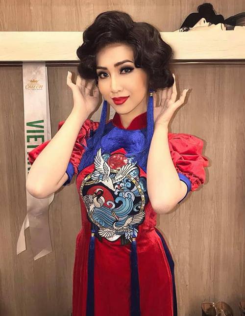 Để chuẩn bị cho phần thi Tài năng ở Hoa hậu chuyển giới quốc tế 2019, Đỗ Nhật Hà có cách trang điểm khá cầu kỳ. Cô diện bộ áo dài theo phong cách xưa, đi kèm với đó là kiểu tóc xoăn phồng thường thấy ở Sài Gòn thập niên 70. Gương mặt của đại diện Việt Nam cũng được trang điểm kỹ lưỡng.
