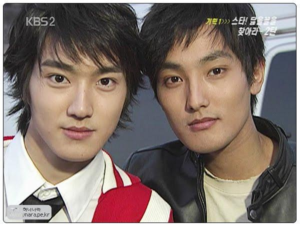 Si Won (Super Junior) và Kang Ta (H.O.T - phải) có cùng một kiểu visual đẹp lãng tử khiến fan girl mê mệt.