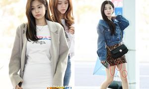 Irene, Jennie lộ khuyết điểm 'kém duyên' ở sân bay