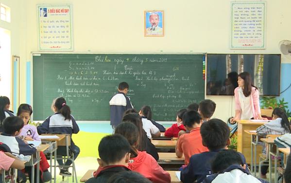 Lớp 5A có giáo viên thay thế từ 4/3. Ảnh: Huy Mạnh.