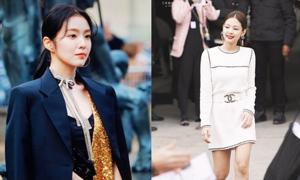 Jennie - Irene ở Paris Fashion Week: Cùng kiểu tóc nhưng hiệu quả trái ngược