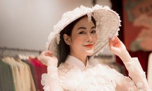 'Sao Mai' Tuyết Nga dự thi Hoa hậu Áo dài Việt Nam 2019