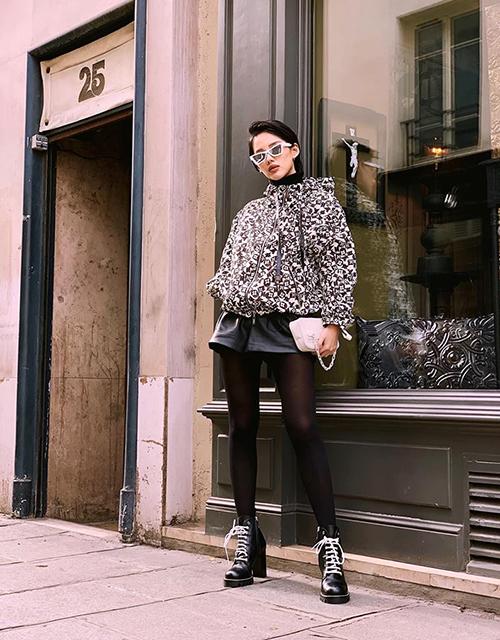 Khánh Linh The Face diện đồ hiệuđẳng cấp trên đường phố Paris.