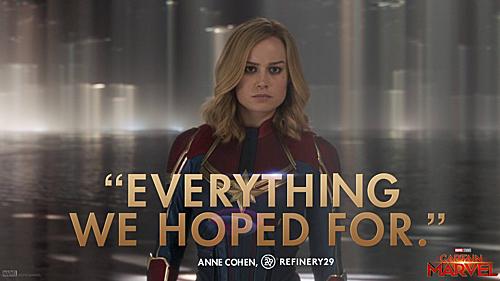 Captain Marvel đang là hi vọng duy nhất để giải cứu thế giới.
