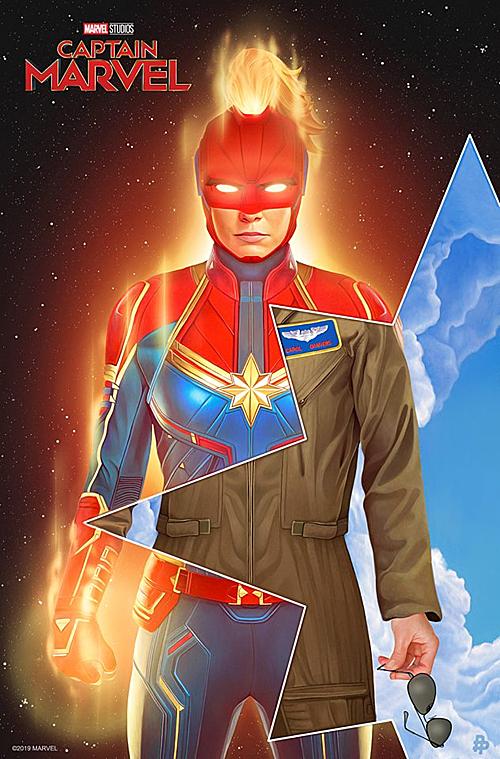 Khác với những nữ siêu anh hùng trước đây, Captain Marvel có tạo hình mạnh mẽ hơn cả.