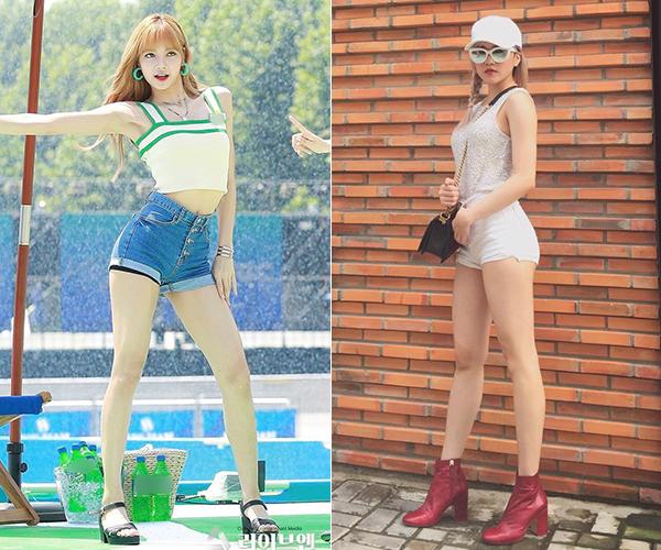 Cả hai đều có đôi chân rất thẳng và dài, hầu như không có tì vết nên đặc biệt thu hút ánh nhìn mỗi khi diện quần ngắn cũn.