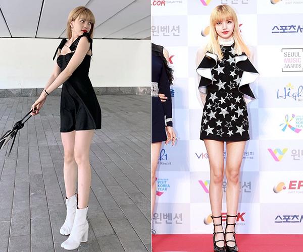 Hai cô nàng cũng thường xuyên diện váy ôm siêu ngắn để khoe khéo làn da trắng muốt, đôi chân thon dài.