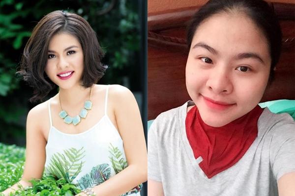 Da Vân Trang khi mang bầu trở nên sần sùi, mụn nhọt. Chiếc mũi nở to chiếm gần 1/3 khuôn mặt khiến người đối diện khó nhận ra nữ diễn viên xinh đẹp ở thời kỳ mang bầu.