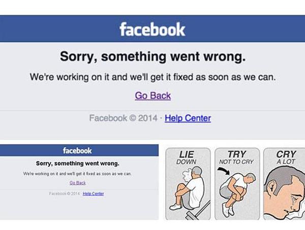 Việc facebook bị sập giống như một thảm họa với cư dân mạng.