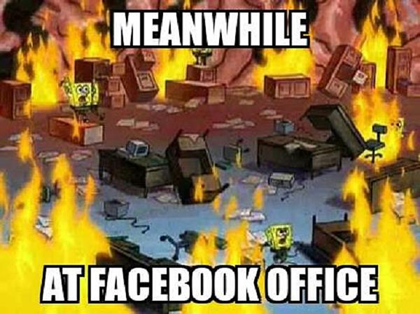 Văn phòng facebook và các nhân viên lúc này.