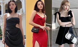 Váy dây mát mẻ, đồ bánh bèo lên ngôi street style sao Việt tuần qua