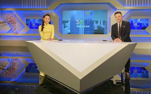 Quỳnh Hương bén duyên làm BTV Thể thao trên sóng truyền hình.