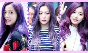 Ji Soo, Irene và Tzuyu: Ai hợp với tóc màu tím nhất?