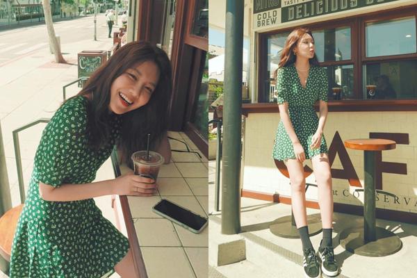 Soo Young cười thả ga khi đi chơi cùng Tiffany ở Mỹ. Cô nàng cũng được người bạn thân thiết trong SNSD chụp cho những bức ảnh sống ảo miễn chê.