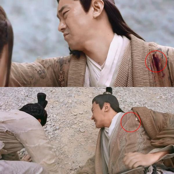 Ở tập 12, vợ chồng Hà Thái Xung hợp sức muốn giết Dương Tiêu nhưng thất bại, còn lỡ tay đâm kiếm vào người nhau. Tuy nhiên qua cảnh sau, vết thương trước ngực cả hai đã biến mất, quần áo cũng lành lặn trở lại.