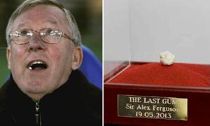 Bã kẹo cao su của Alex Ferguson được bán với giá 517.000 USD