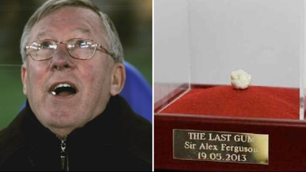 Bã kẹo cao su cuối cùng ông Alex Feruson dùng trên cương vị HLV Man Utd.