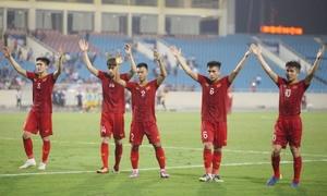 U23 Việt Nam ăn mừng chiến thắng ra quân bằng điệu Viking