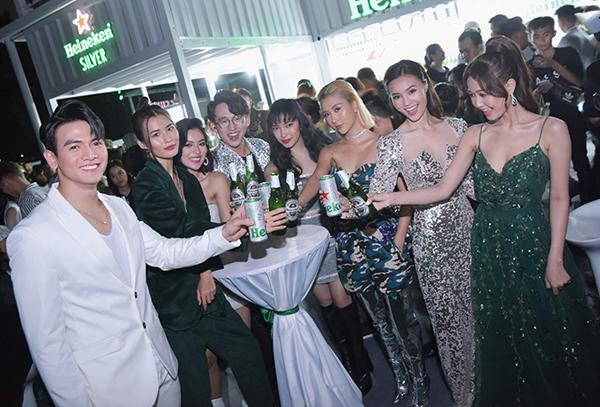 Sự kiện ra mắt Heineken Silver thu hút nhiều sao Việt tham gia.