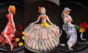 Nghệ sĩ ẩm thực chế tác món Sashimi đẹp không nỡ ăn