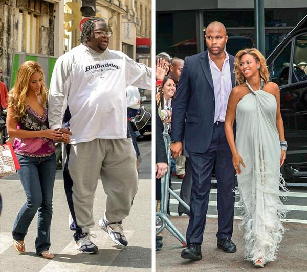 Cặp vợ chồng Beyoncé và Jay-Z từng bị người hâm mộ quá khích tấn công  nhiều lần. Cặp đôi thuê gần 500 vệ sĩ trong mỗi tour lưu diễn. Họ được  giao nhiệm vụ bảo vệ Beyoncé, Jay-Z và con gái 24/7. Khoảng 300 người sẽ  trà trộn vào khán giả và 50 người ở hậu trường. Trong cuộc sống  thường ngày, gia đình họ có 3 vệ sĩ thân cận.