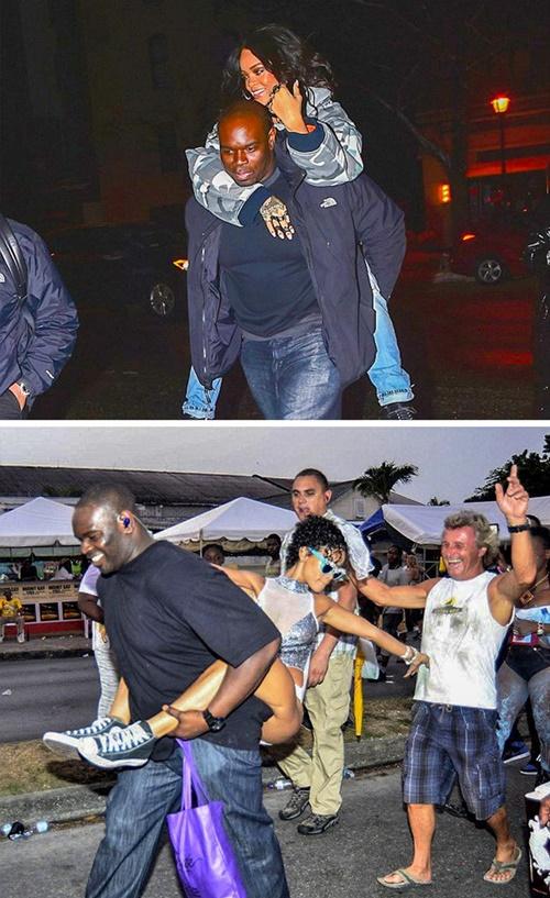 Rihanna có tất cả 5 vệ sĩ những lúc đi sự kiện và 2 vệ sĩ thân  cận trong cuộc sống thường ngày. Nữ ca sĩ có mối quan hệ thân thiết với  các vệ sĩ.