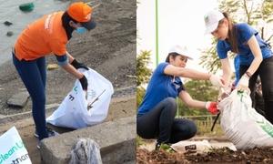 Sao Việt xắn tay áo tham gia thử thách dọn rác bảo vệ môi trường