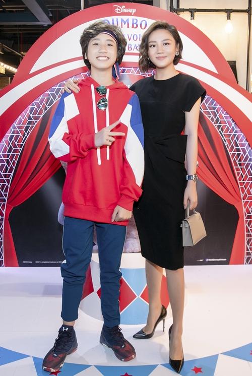 Văn Mai Hương cũng vui vẻ hội ngộ soái ca nhí Gia Khiêm - học trò cũ tại Vietnam Idol Kids.